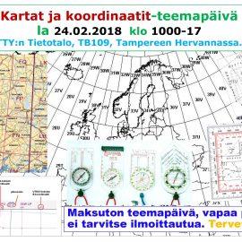 KARTAT JA KOORDINAATIT -TEEMAPÄIVÄ 24.02.2018