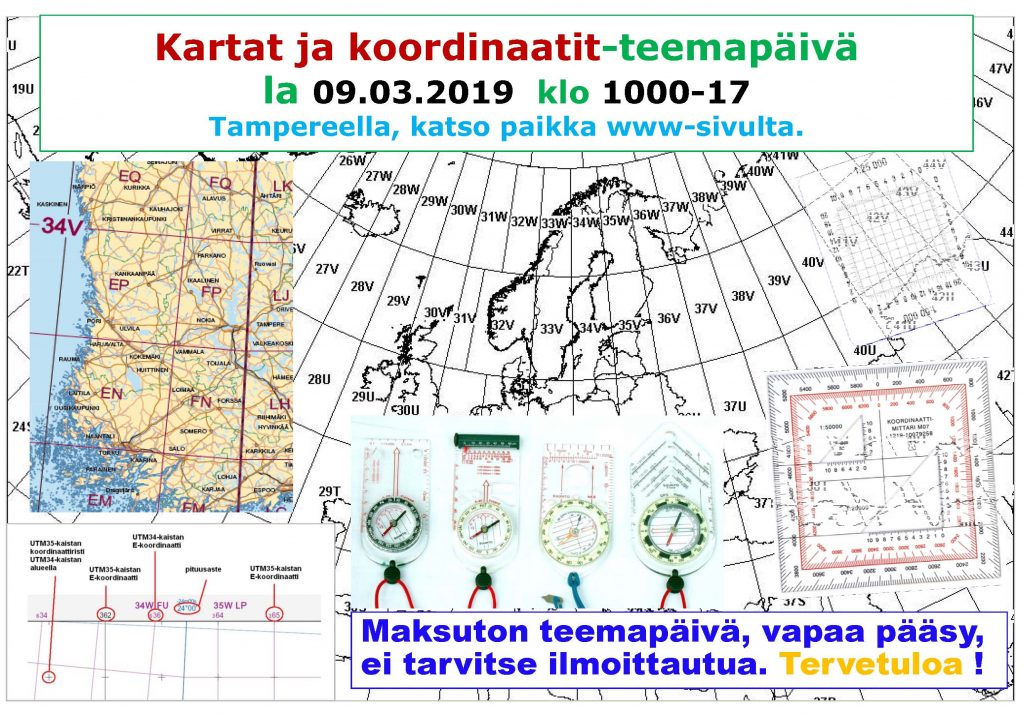 Kartat Ja Koordinaatit Teemapaiva 09 03 2019 Tampereen