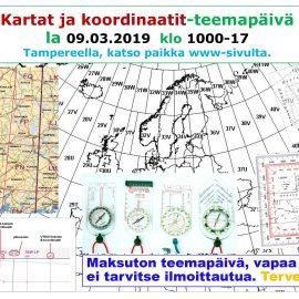 KARTAT JA KOORDINAATIT -TEEMAPÄIVÄ 09.03.2019