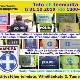 VAPEPA Info eli teemailta ti 01.10.2019 klo18-21