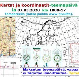 Kartat ja koordinaatit-teemapäivä 07.03.2020