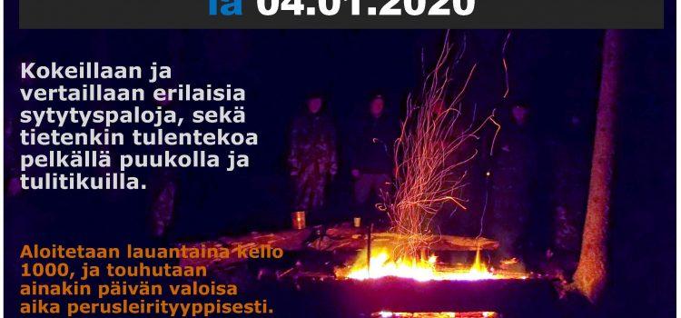 Tulentekopäivä lauantaina 04.01.2020